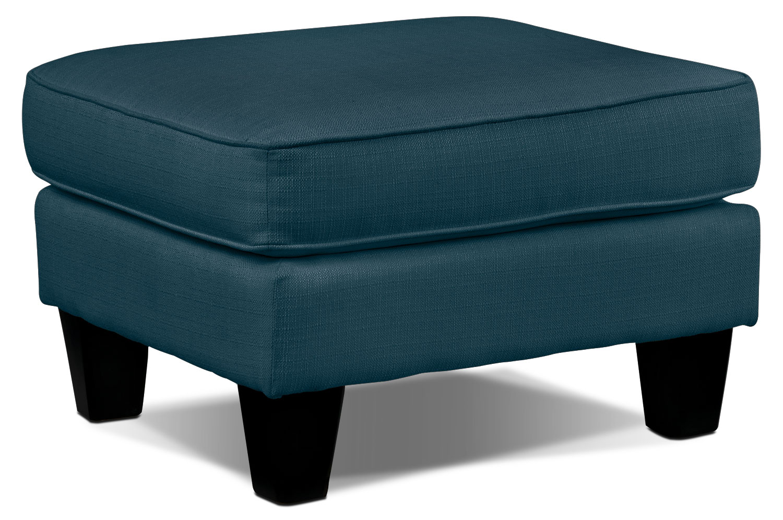 Living Room Furniture - Klein Ottoman - Azure