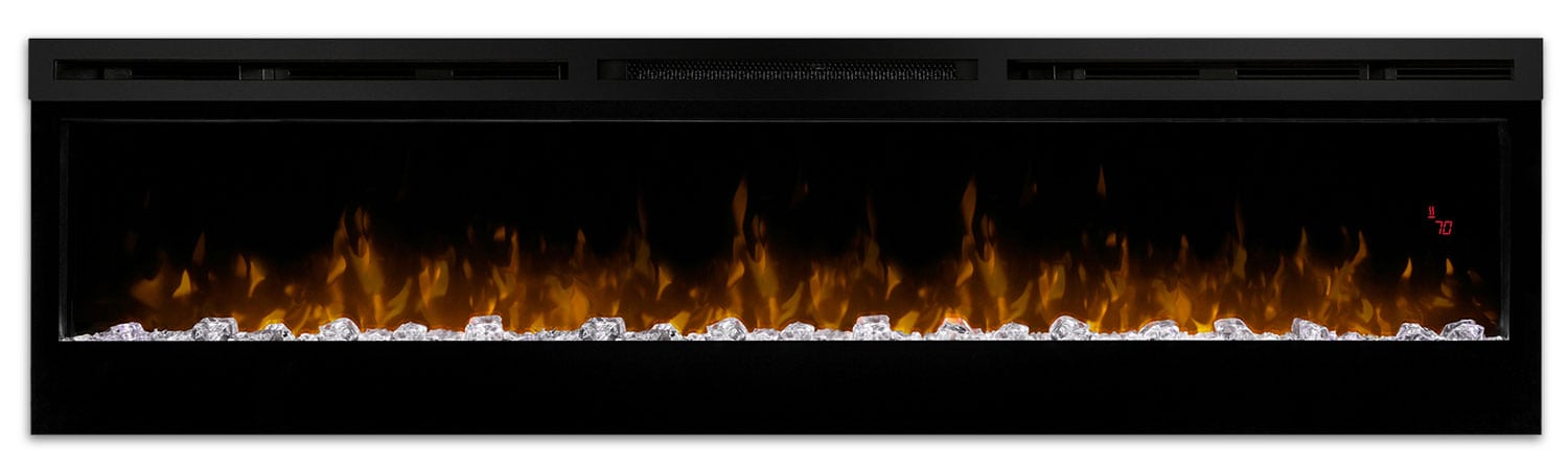 """Accent and Occasional Furniture - Prism 74"""" Wall-Mount Electric Fireplace"""