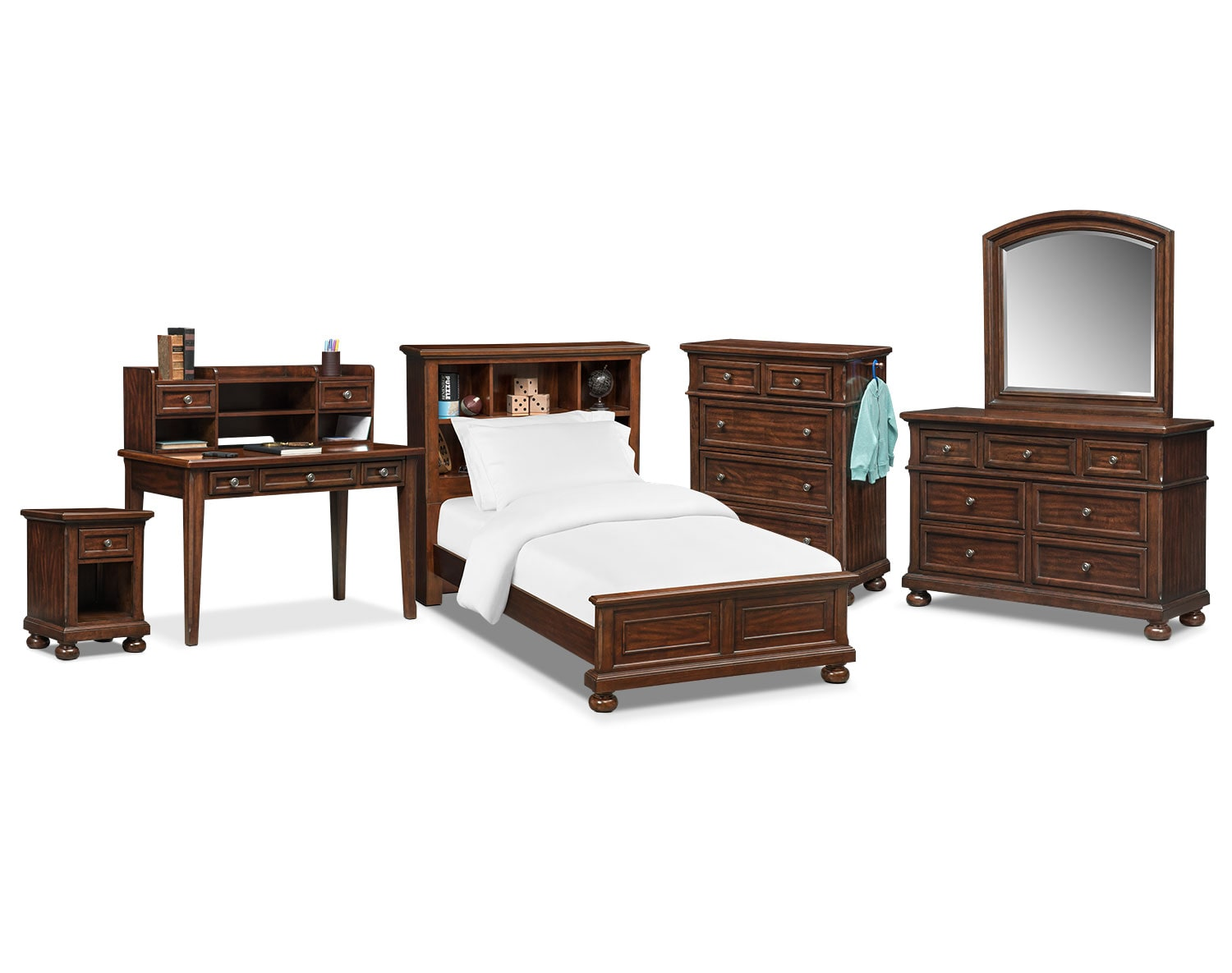 The Hanover Youth Bookcase Bedroom Collection Cherry American Signature F