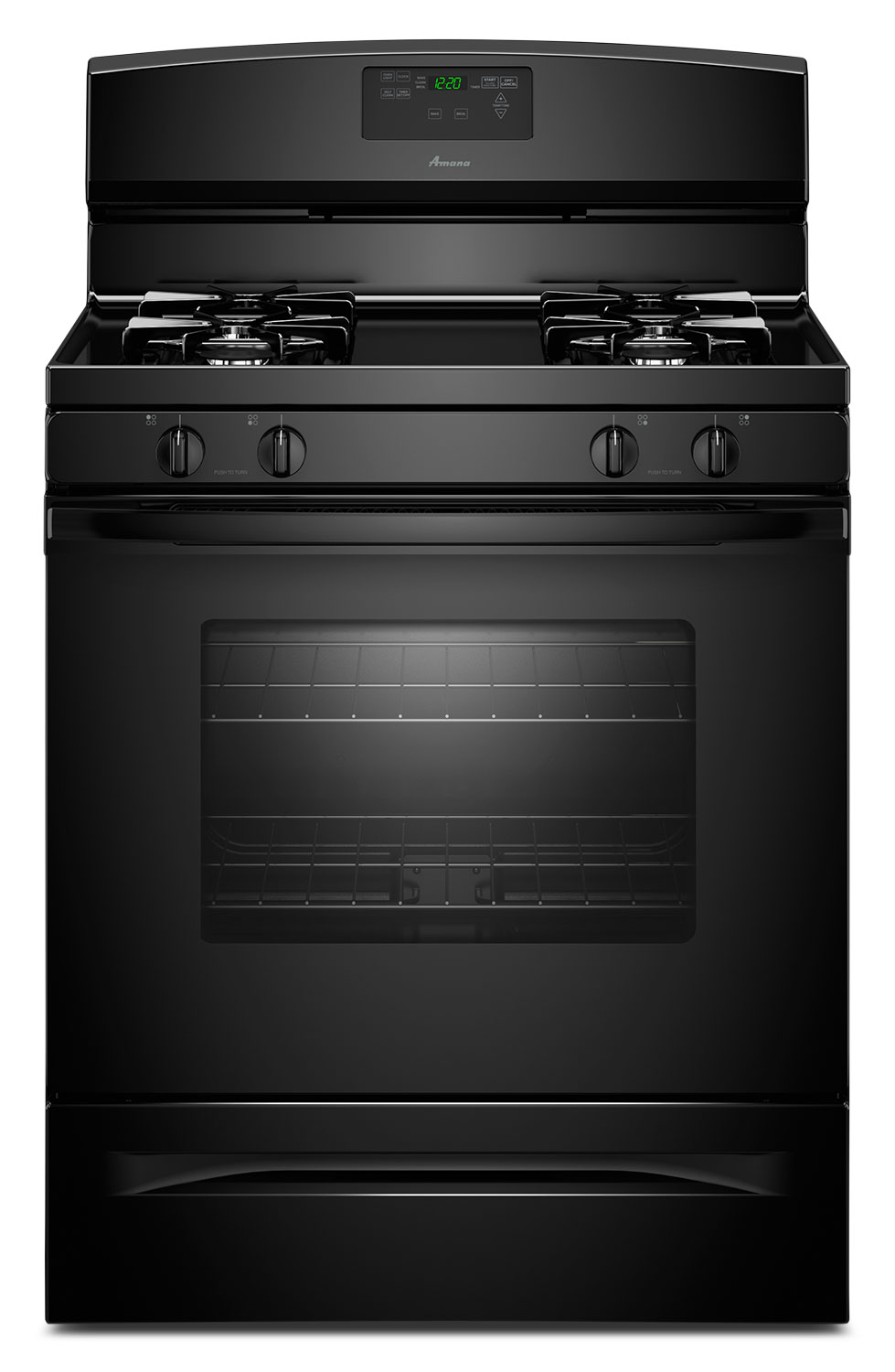 Cooking Products - Amana Black Freestanding Gas Range (5.0 Cu. Ft.) - AGR5630BDW