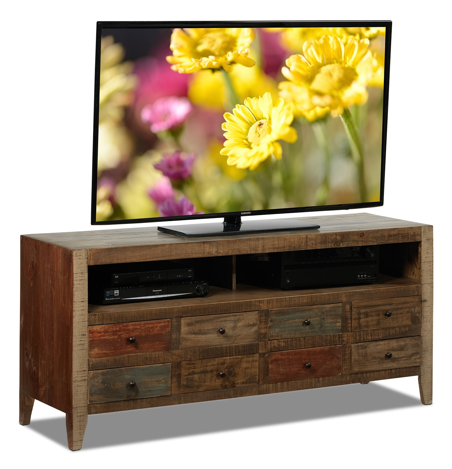 Auckland TV Stand - Rustic Brown