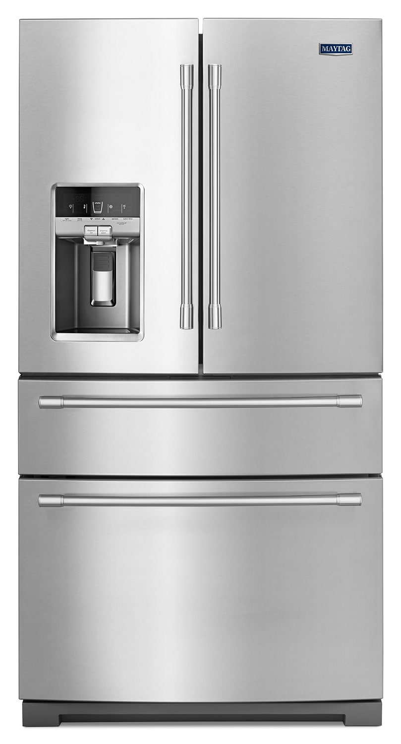 Refrigerators and Freezers - Maytag Stainless Steel French-Door Refrigerator (26.1 Cu. Ft.) - MFX2676FRZ