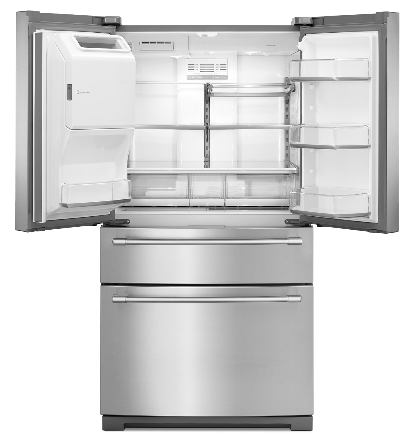 French Door Refrigerators: Maytag Stainless Steel French Door Refrigerator (26.1 Cu