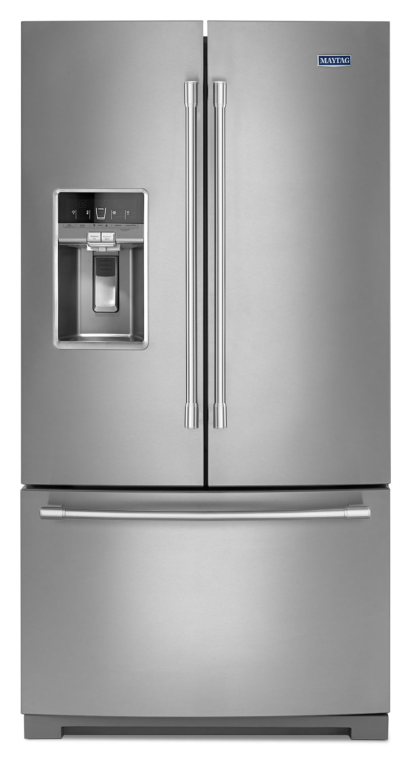 Refrigerators and Freezers - Maytag Stainless Steel French-Door Refrigerator (26.8 Cu. Ft.) - MFT2776FEZ