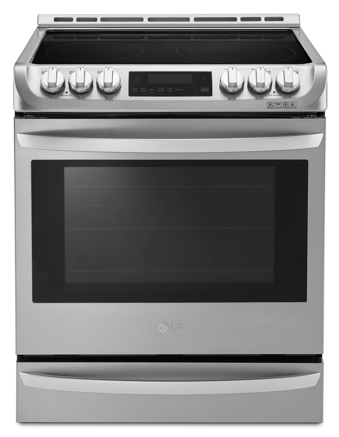 Cooking Products - LG 6.3 Cu. Ft. Slide-In Electric Range– LSE5615ST