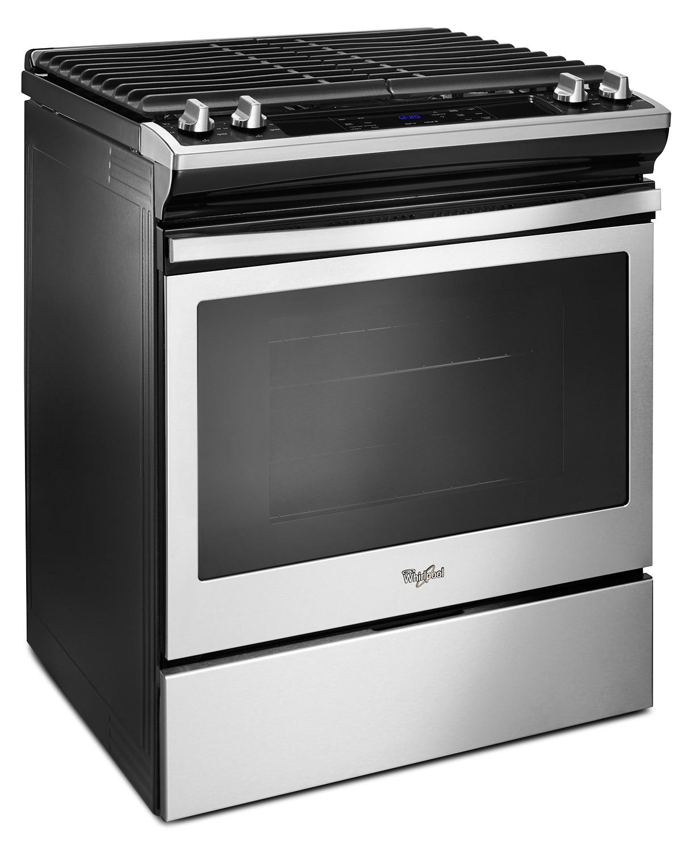 Gas Cooking Appliances ~ Whirlpool stainless steel slide in gas range cu ft