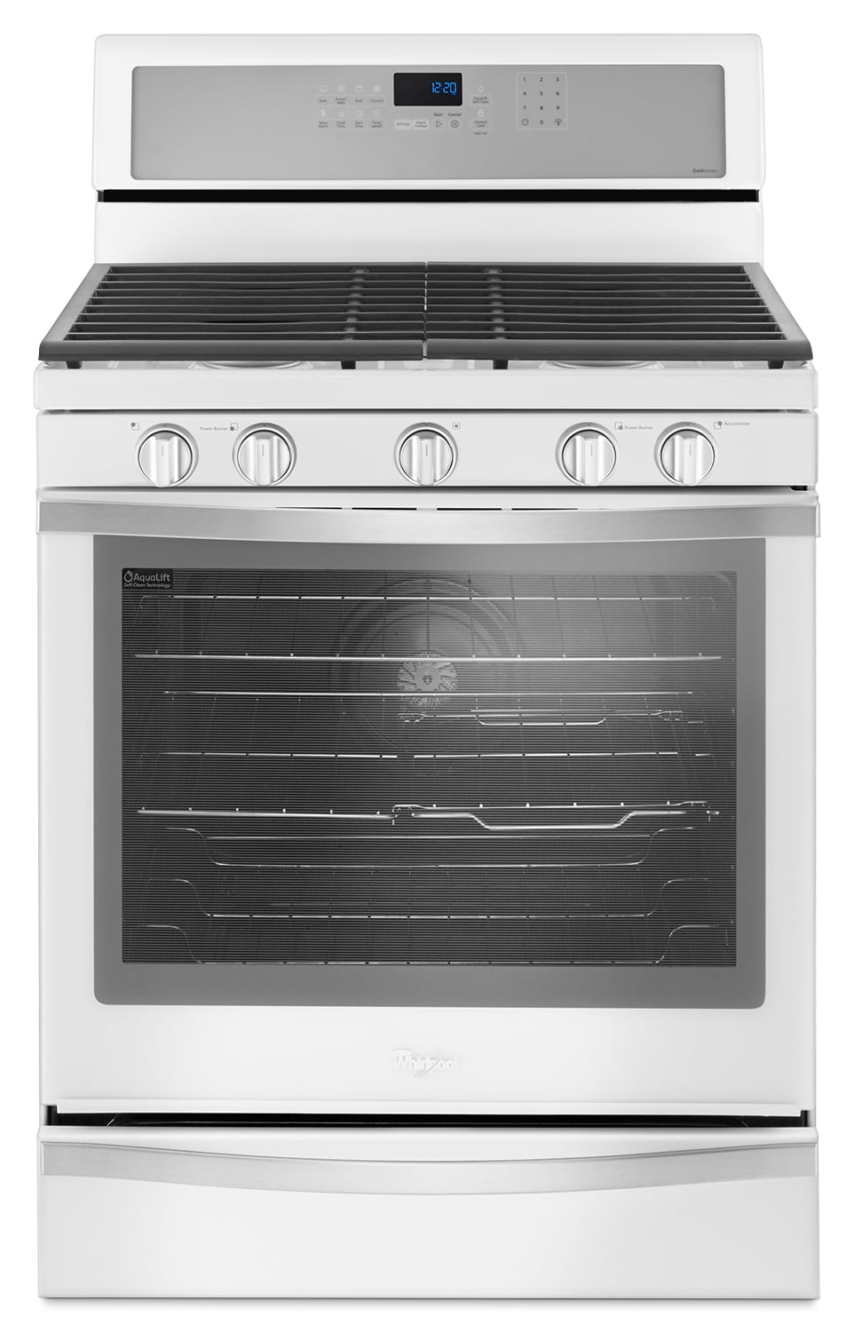 Cooking Products - Whirlpool White Freestanding Gas Range (5.8 Cu. Ft.) - WFG745H0FH
