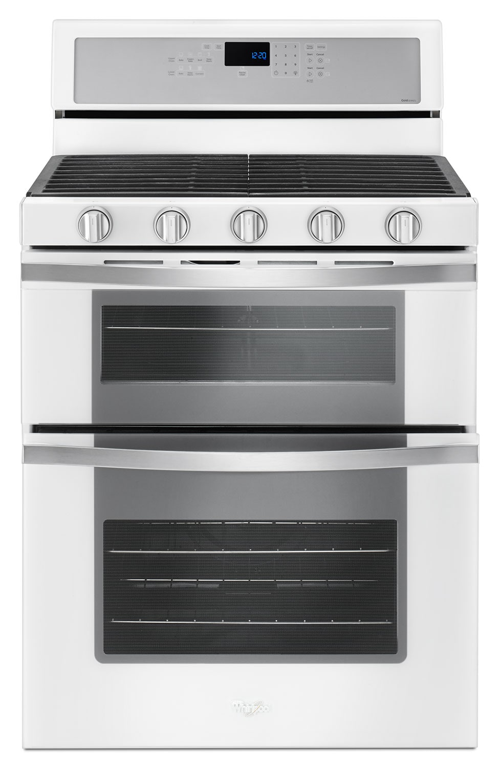 Cooking Products - Whirlpool White Freestanding Double Gas Range (6.0 Cu. Ft.) - WGG745S0FH