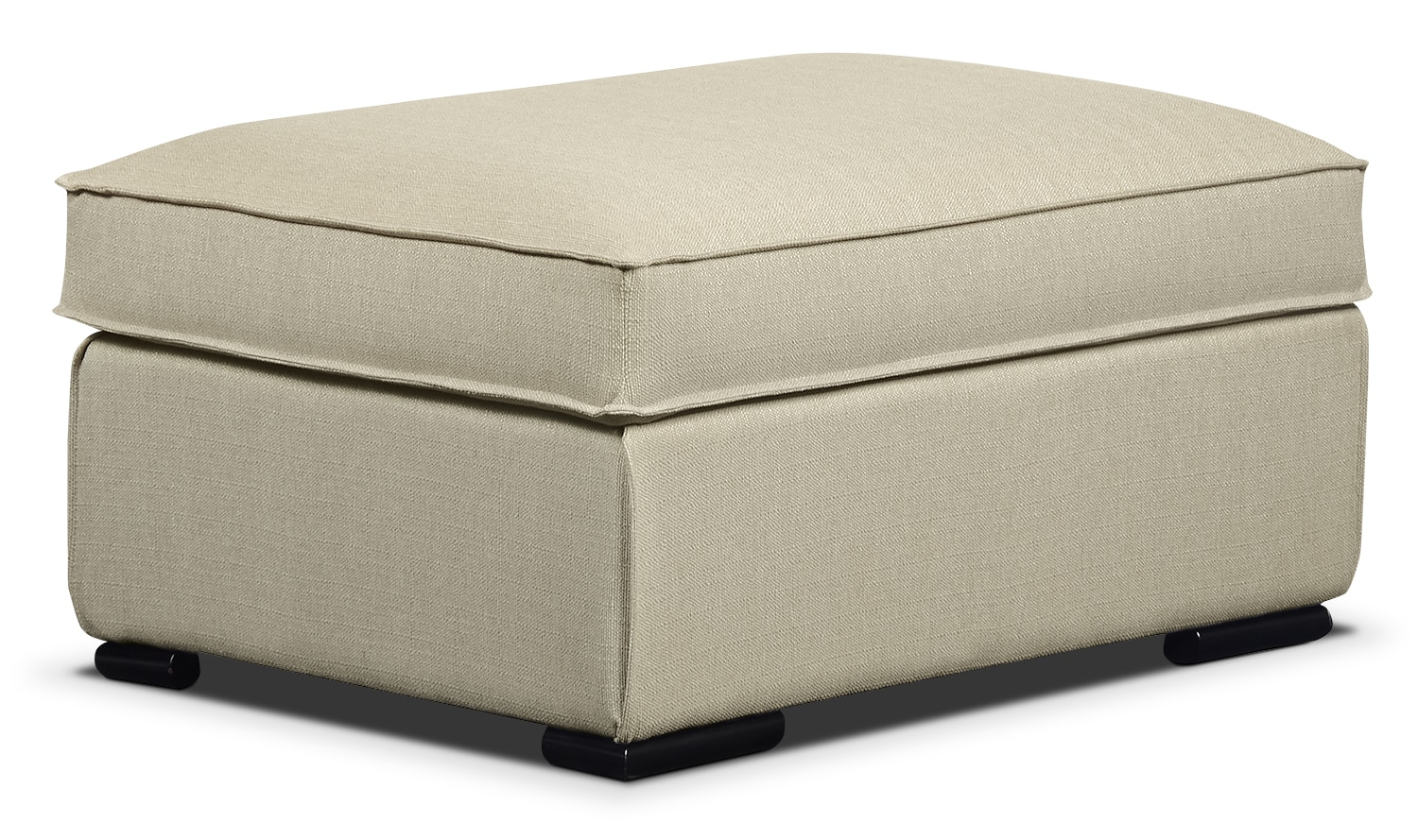 Living Room Furniture - Milan Linen-Look Fabric Storage Ottoman – Taupe