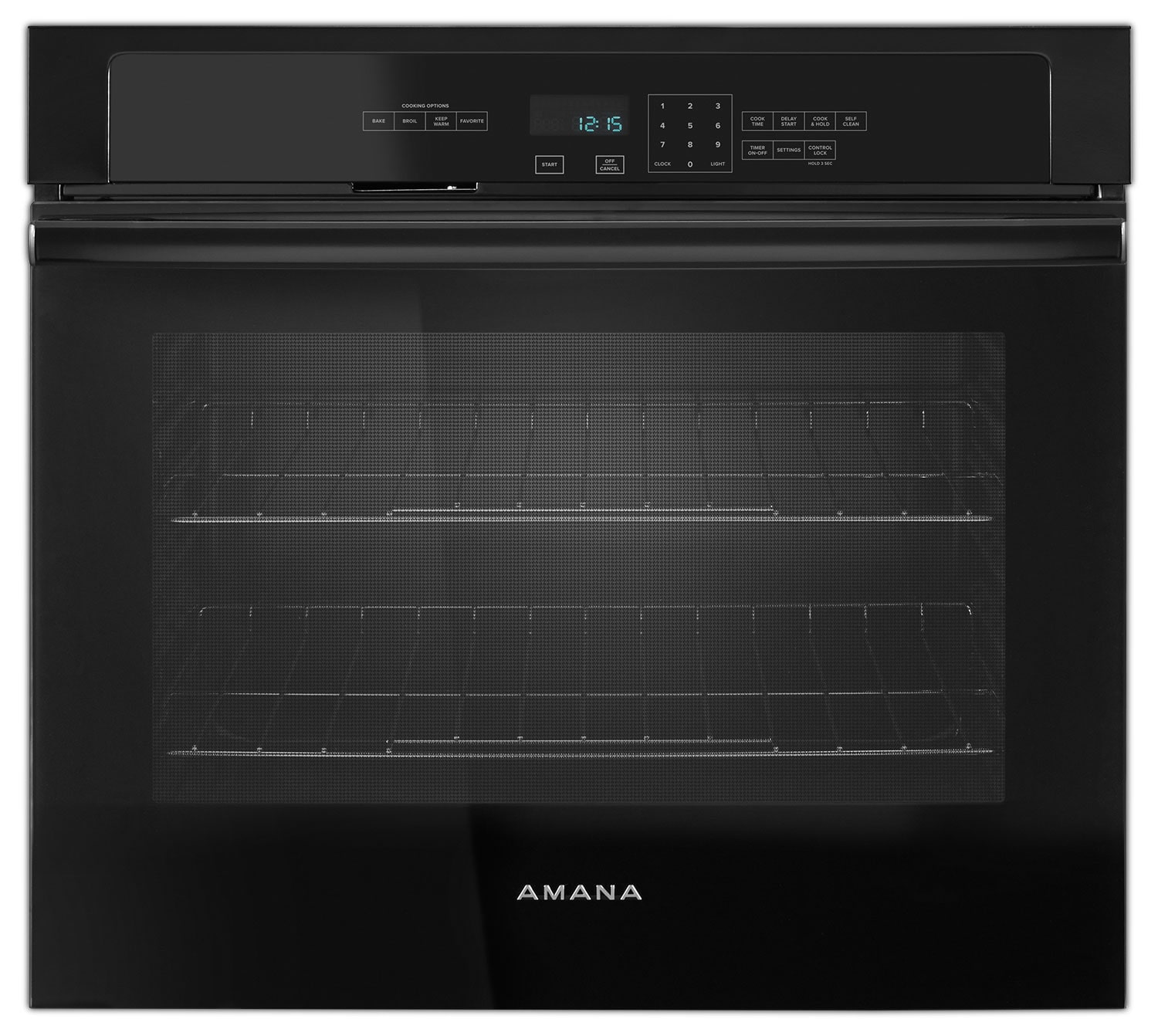 Cooking Products - Amana Black Electric Wall Oven (4.3 Cu. Ft.) - AWO6317SFB