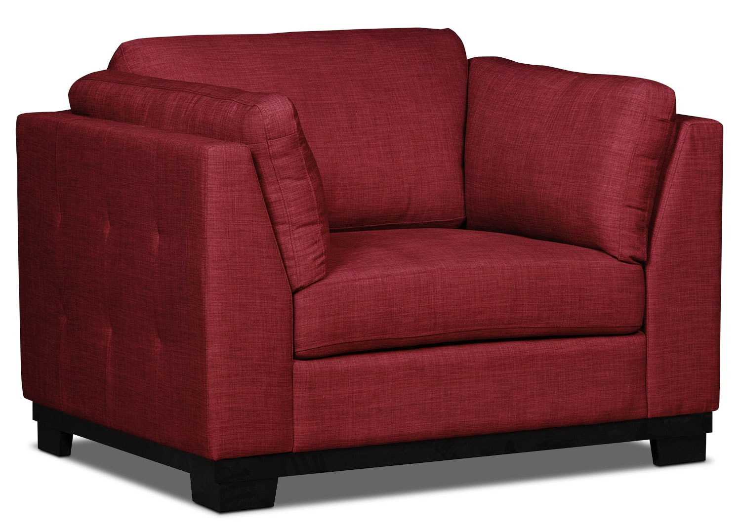 Living Room Furniture - Oakdale Linen-Look Fabric Chair – Cherry