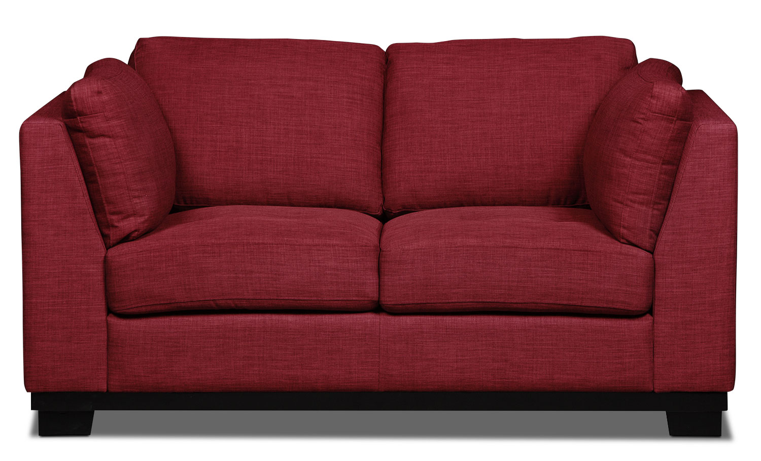 Oakdale Linen-Look Fabric Loveseat – Cherry