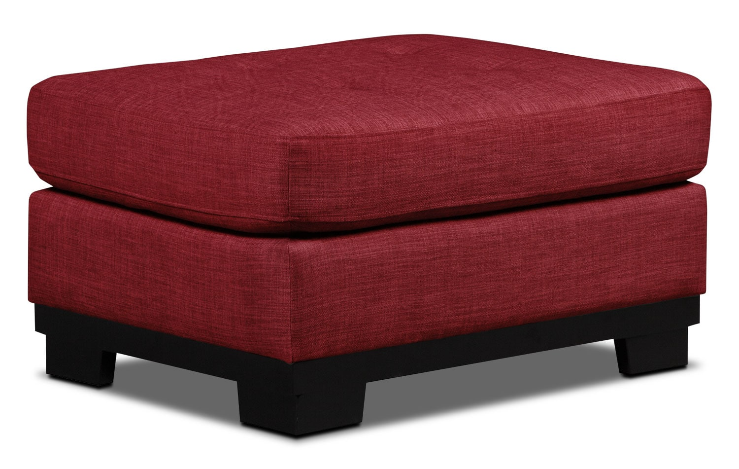 Living Room Furniture - Oakdale Linen-Look Fabric Ottoman – Cherry