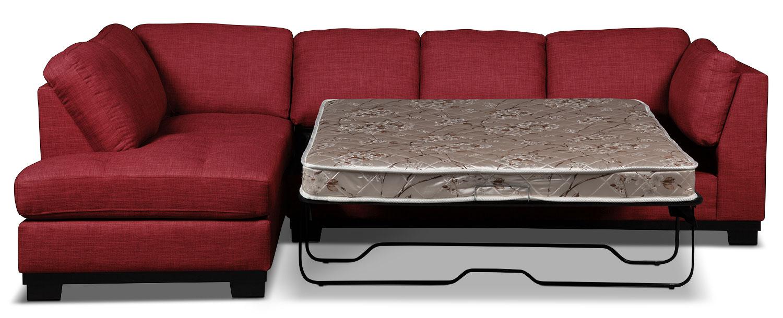 Sofa sectionnel de gauche oakdale 2 pi ces en tissu d 39 apparence lin avec - Sofa lit liquidation ...