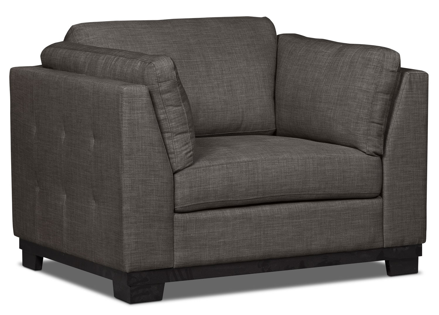 Living Room Furniture - Oakdale Linen-Look Fabric Chair – Platinum