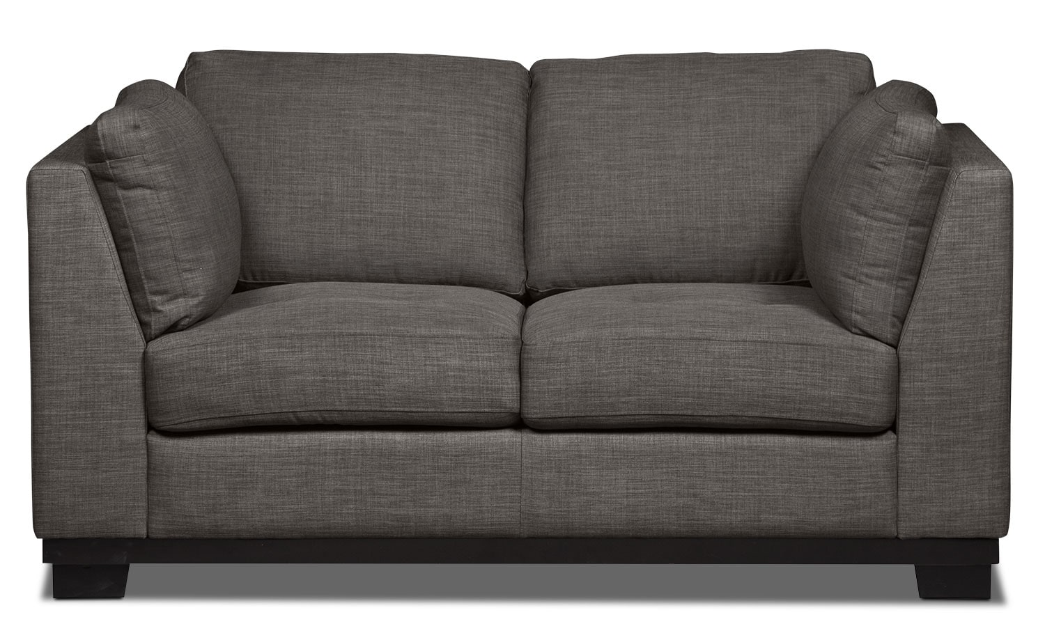 Oakdale Linen-Look Fabric Loveseat – Platinum