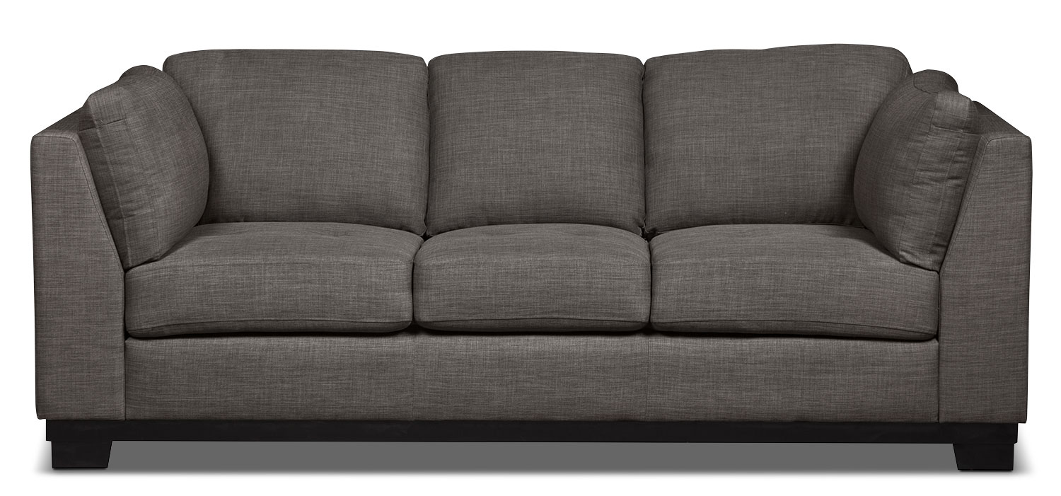 Oakdale Linen-Look Fabric Sofa – Platinum