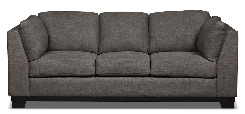 Oakdale Linen-Look Fabric Sofa – Platinum