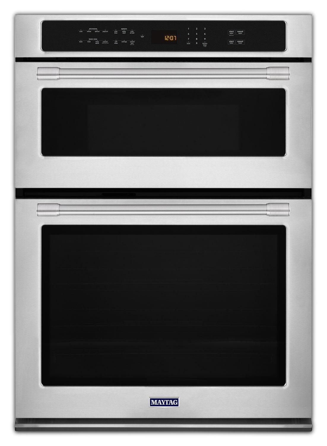 Cooking Products - Maytag Stainless Steel Electric Double Wall Oven with Microwave (5.0 Cu. Ft.) - MMW9730FZ
