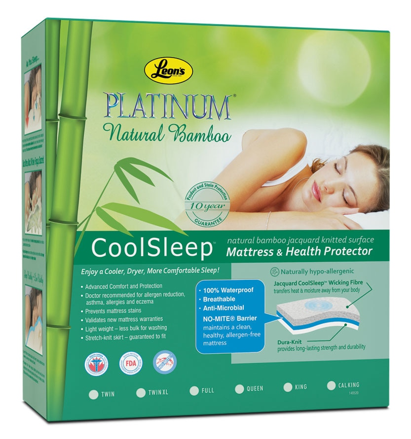 Mattresses and Bedding - Platinum King Mattress Health Guard - Bamboo