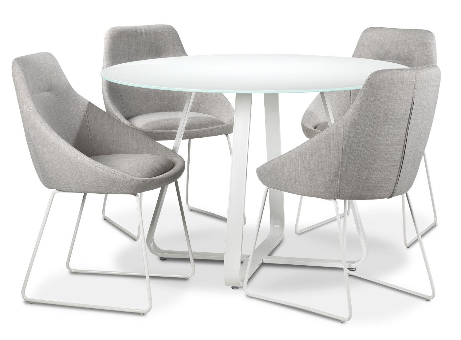 Sunshine 5-Piece Dinette Set - Grey