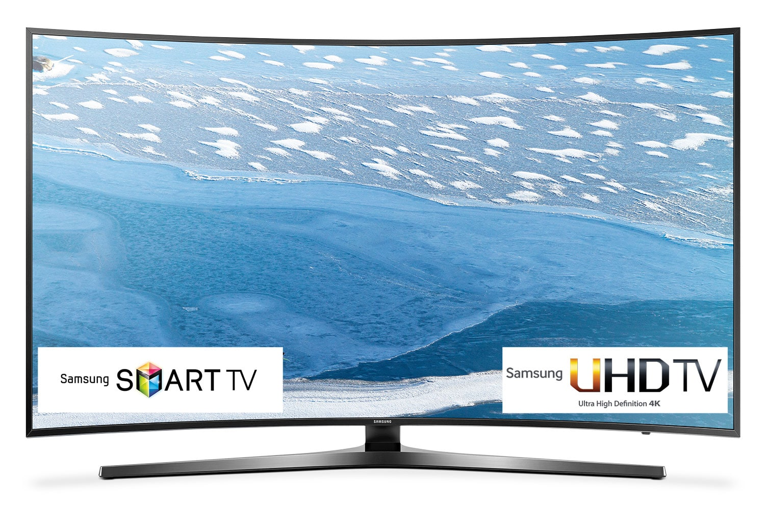 "Televisions - Samsung 55"" 4K UHD Curved Smart LED TV - UN55KU7500FX"