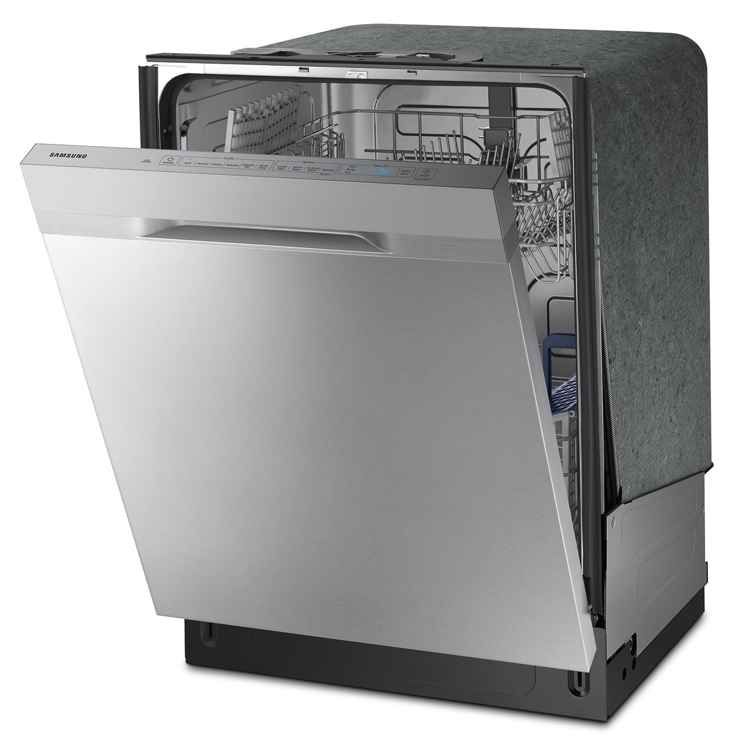 samsung built in dishwasher with auto open drying. Black Bedroom Furniture Sets. Home Design Ideas
