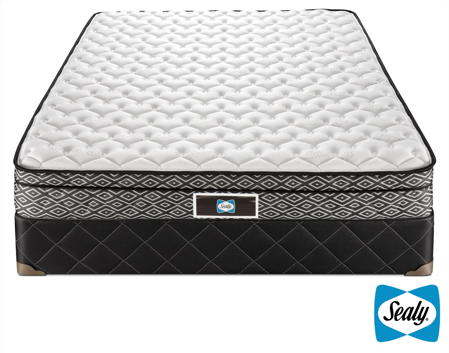 Sealy Tale Queen Mattress/Boxspring Set