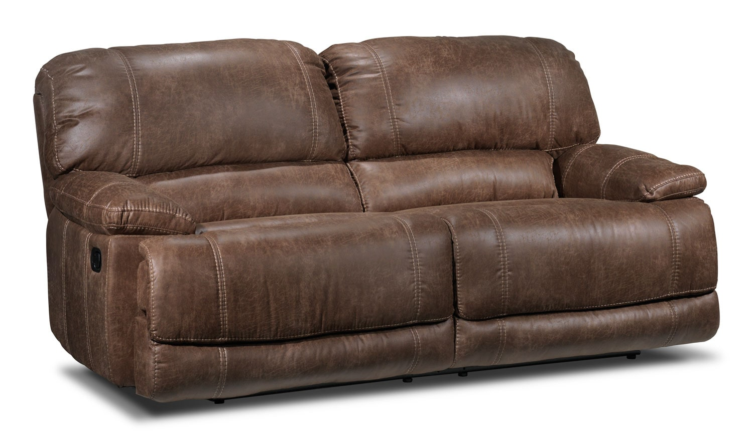 Living Room Furniture - Durango Reclining Sofa - Saddle Brown