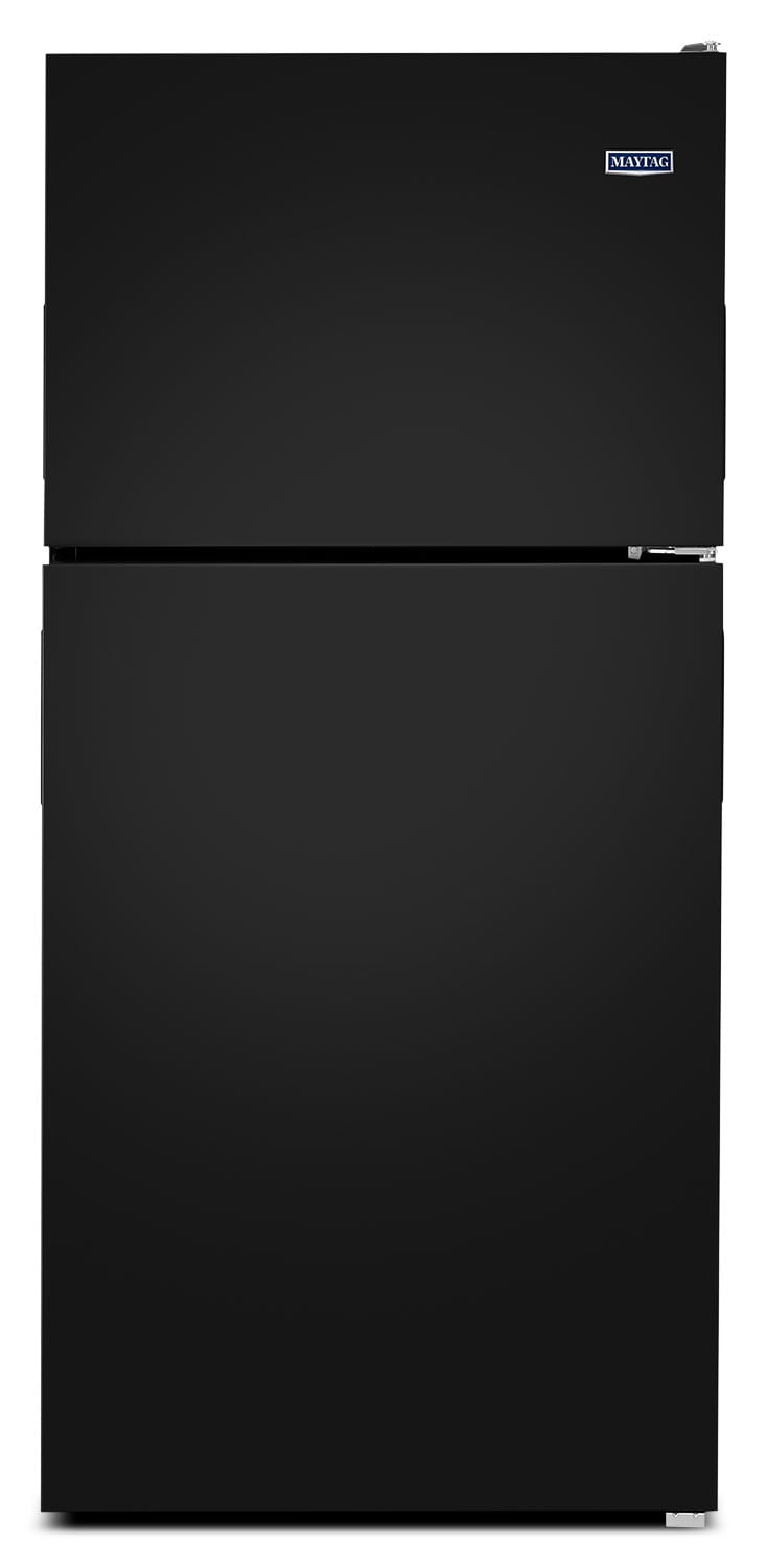 Refrigerators and Freezers - Maytag Black Top-Freezer Refrigerator (21.0 Cu. Ft.) - MRT311FFFE