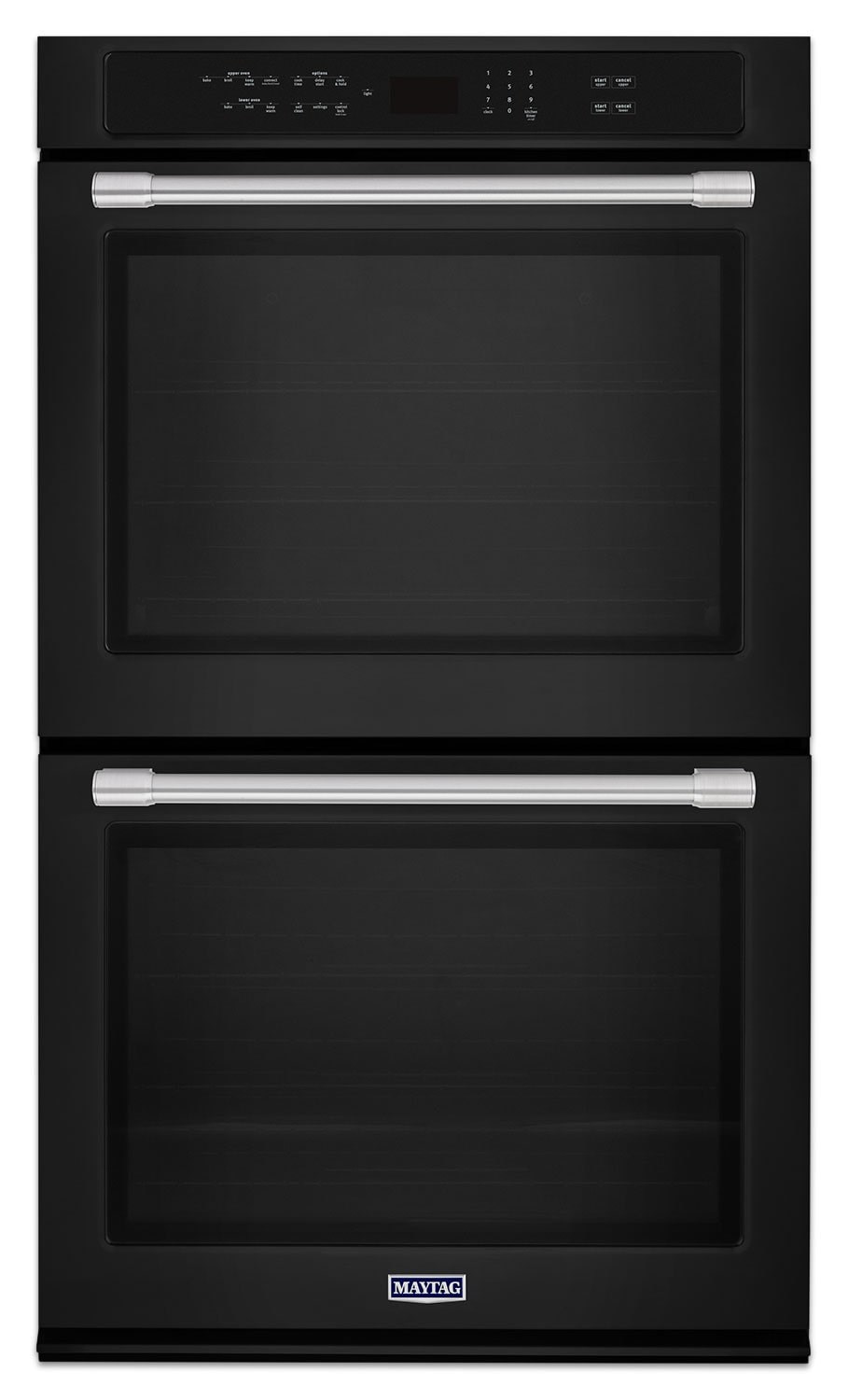 Cooking Products - Maytag Black Electric Double Wall Oven (10.0 Cu. Ft.) - MEW9630FB