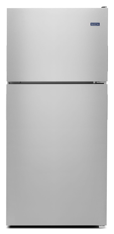 Refrigerators and Freezers - Maytag Monochromatic Stainless Steel Top-Freezer Refrigerator (18.0 Cu. Ft.) - MRT118FFFM