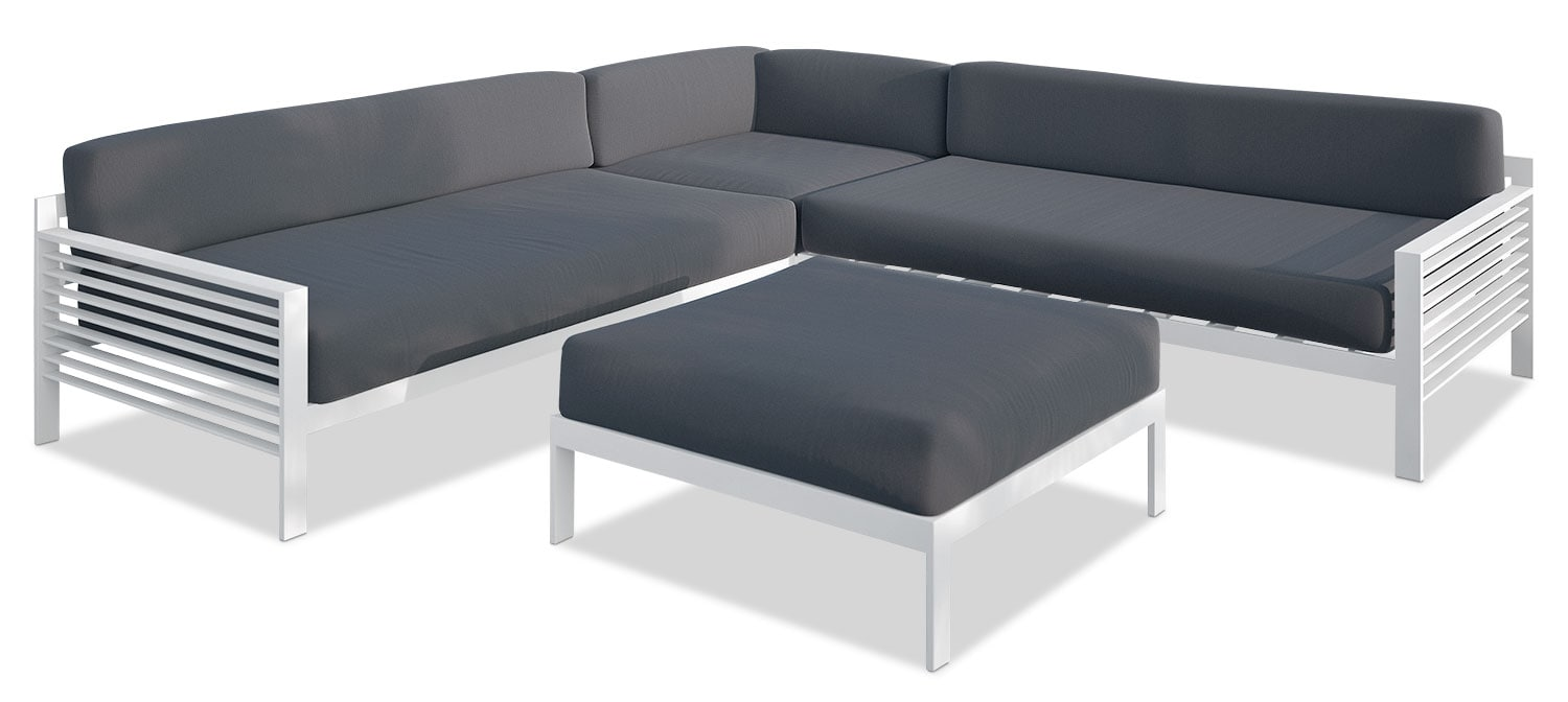 Solin Patio Sectional Set with Ottoman