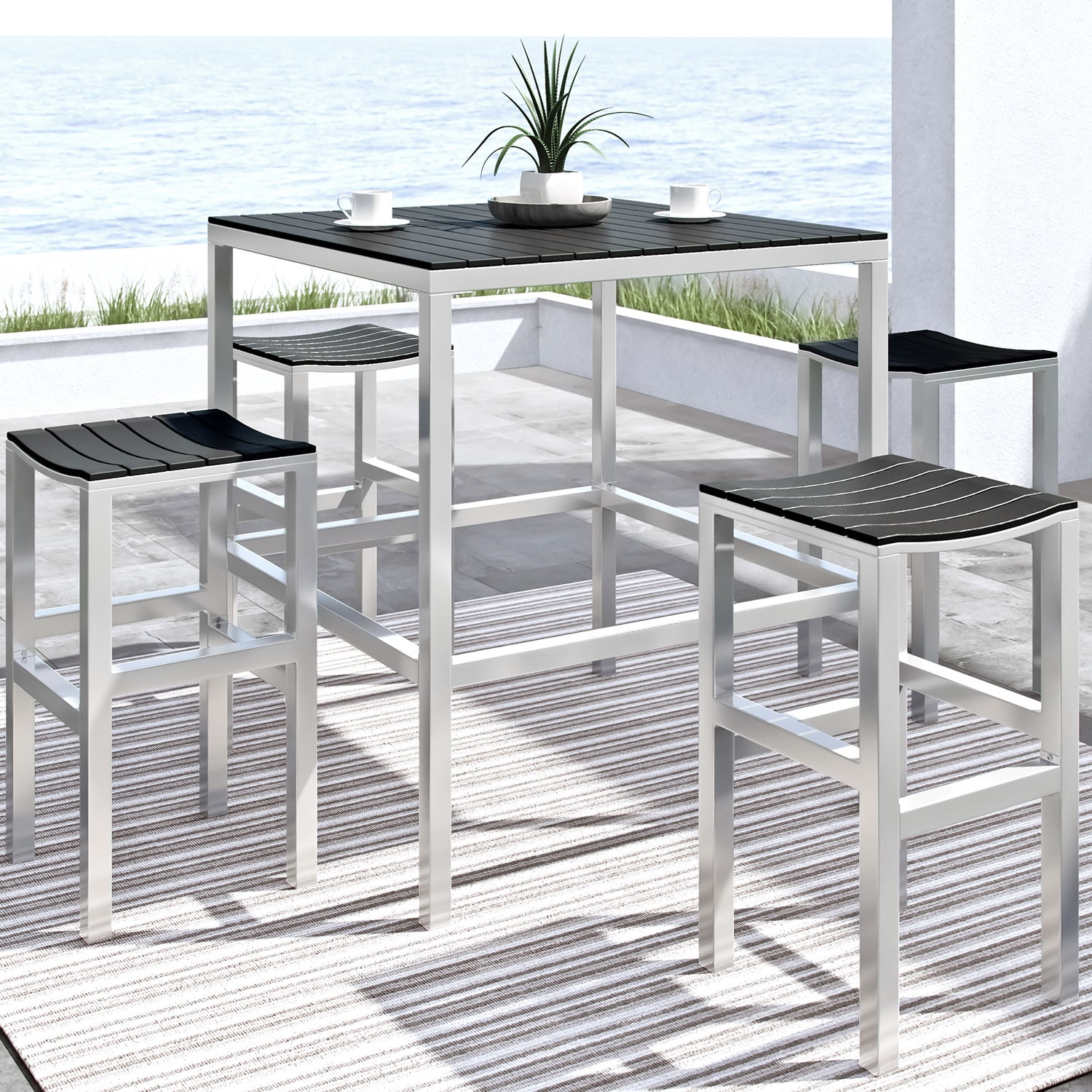Bar-Height 5-Piece Patio Dining Set