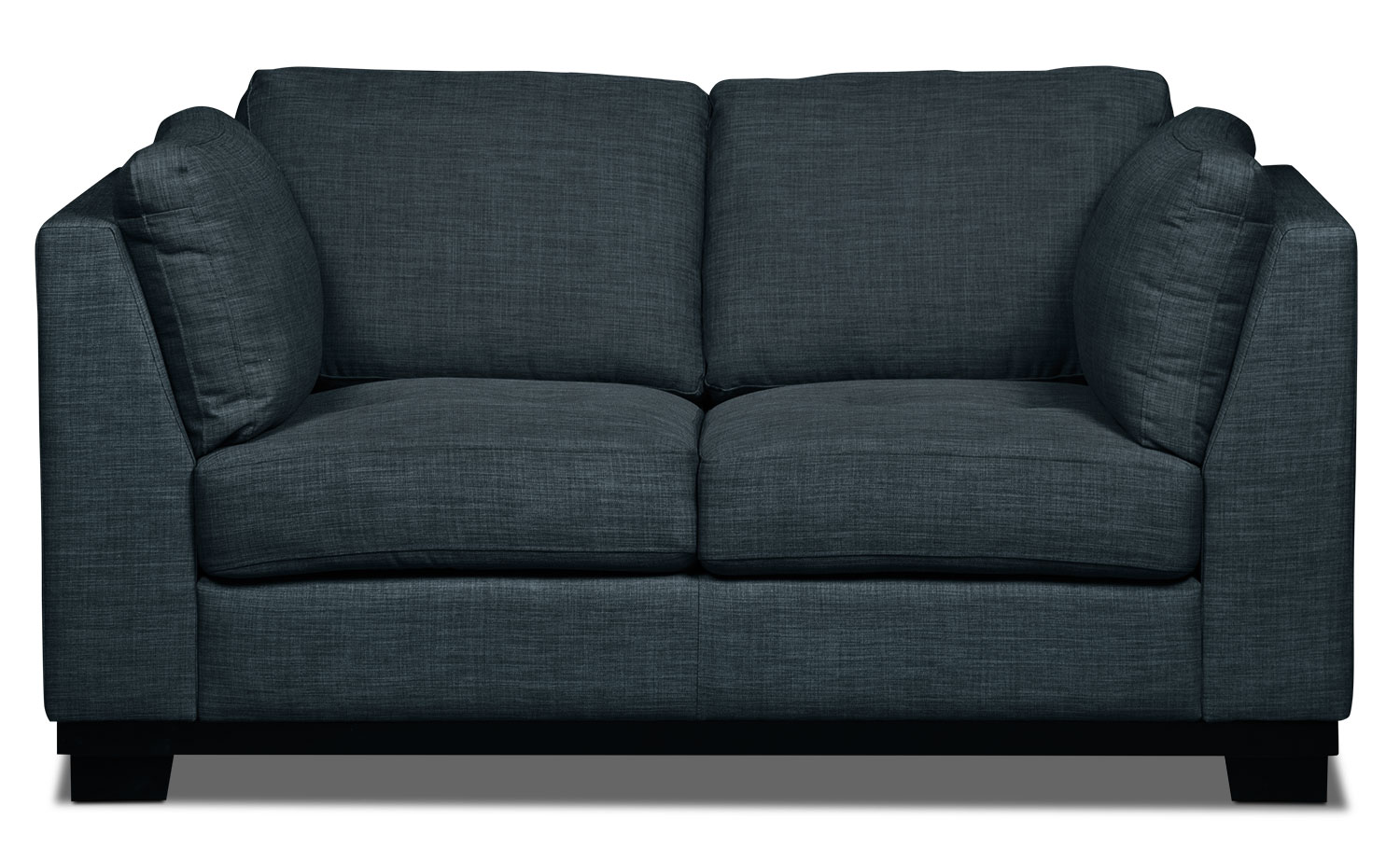 Oakdale Linen-Look Fabric Loveseat – Denim