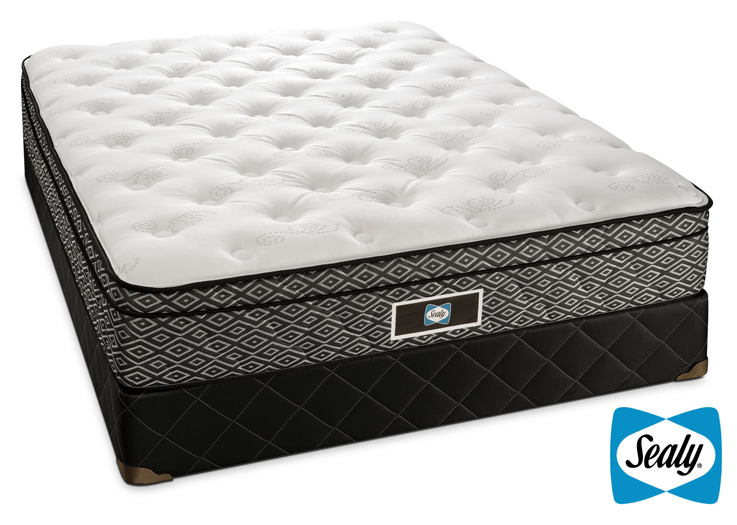 Mattresses and Bedding - Sealy Nero Full Mattress/Boxspring Set