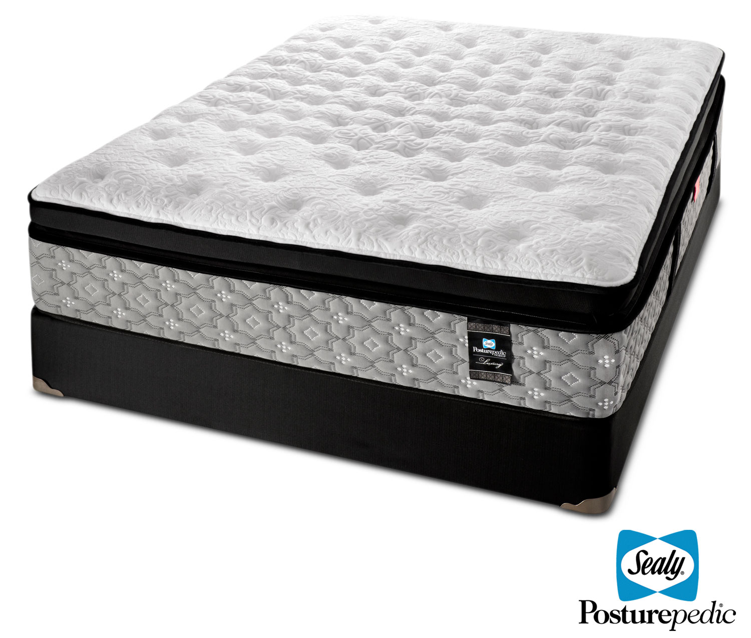 Sealy Epic Plush Queen Mattress and Boxspring Set