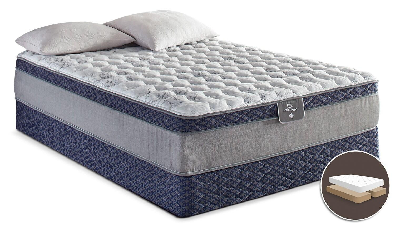 Mattresses and Bedding - Serta Perfect Sleeper 85th Anniversary Euro-Top Firm Split Queen Set