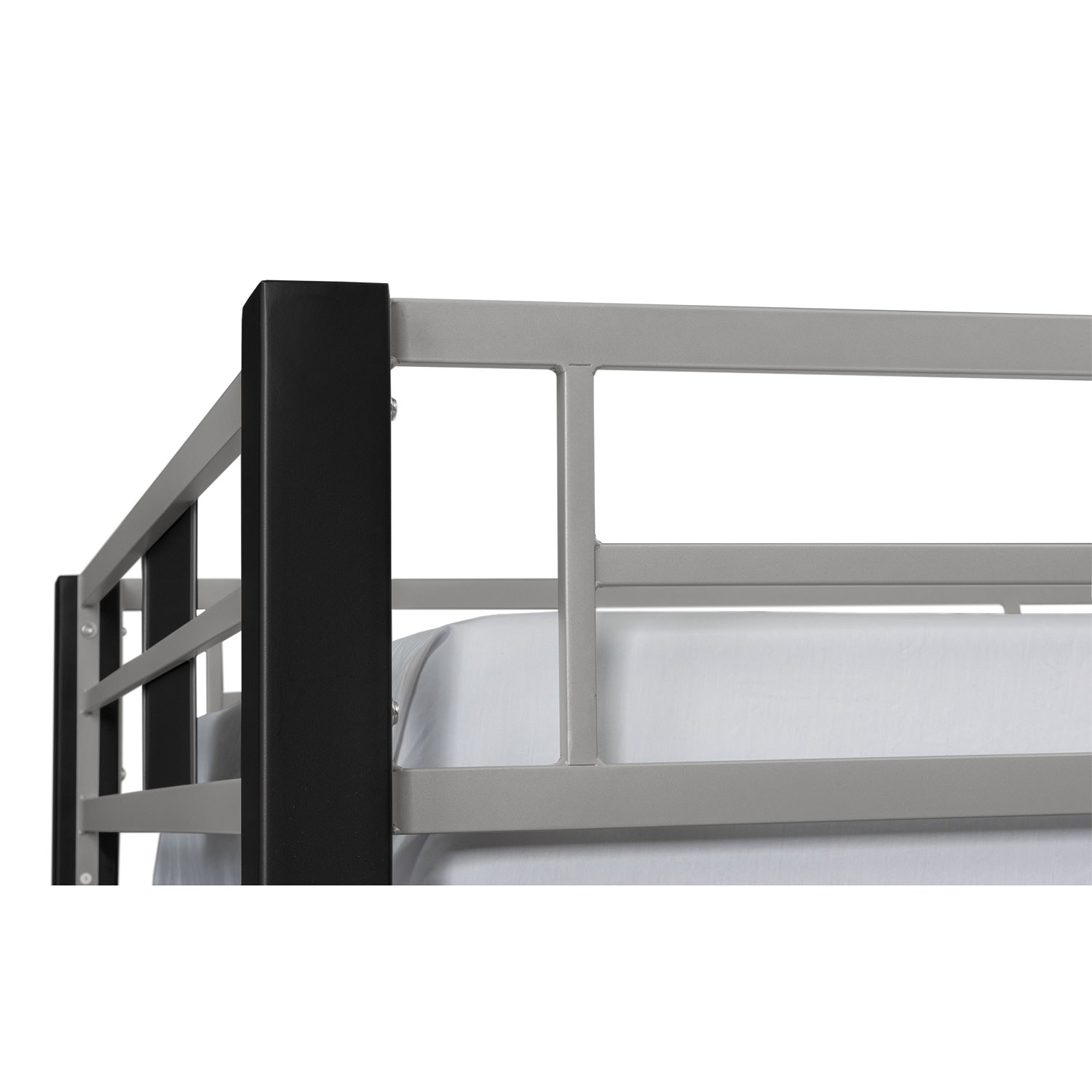 Samba Full Full Futon Bunkbed Matte Black American Signature Furniture