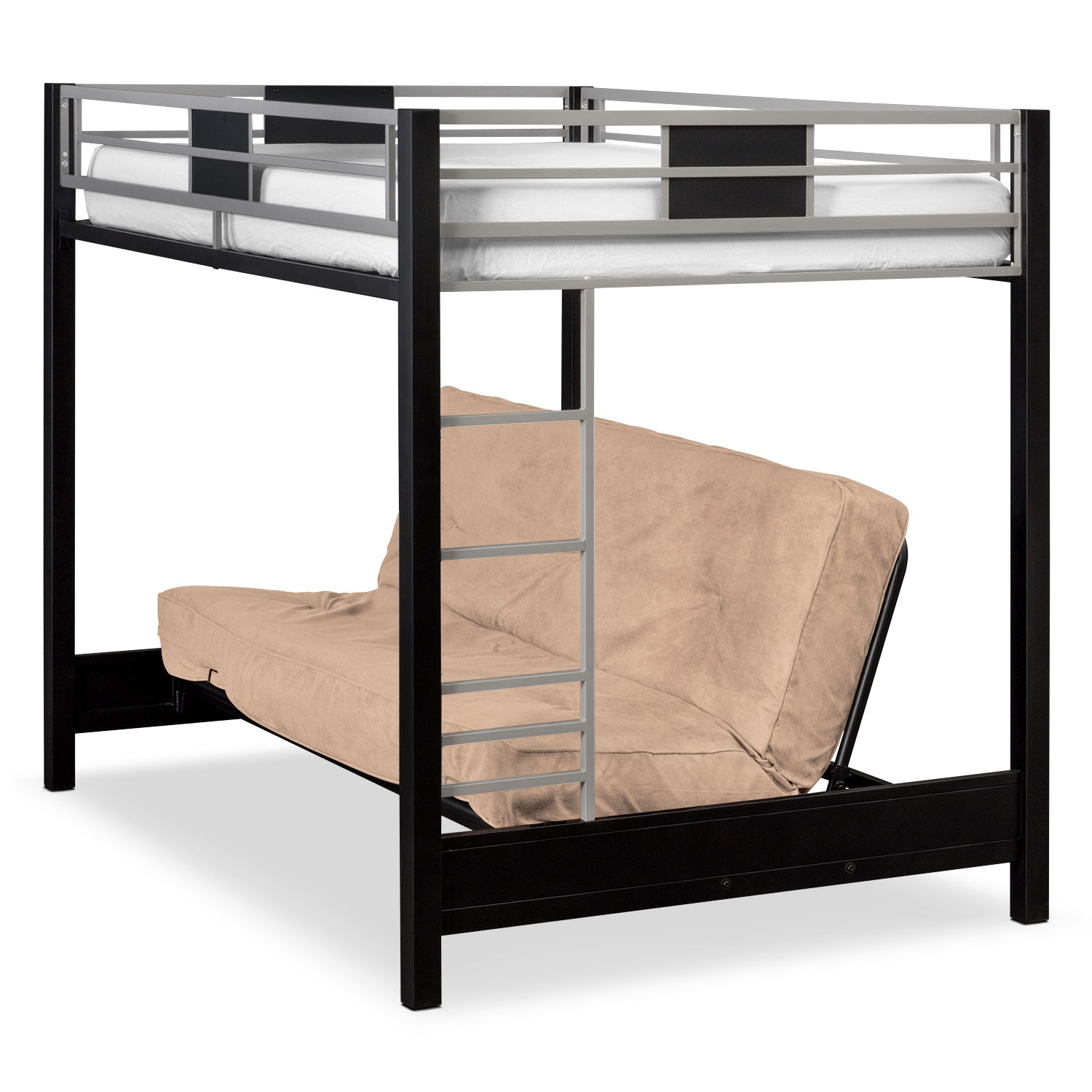 samba full futon bunk bed with cappuccino futon mattress