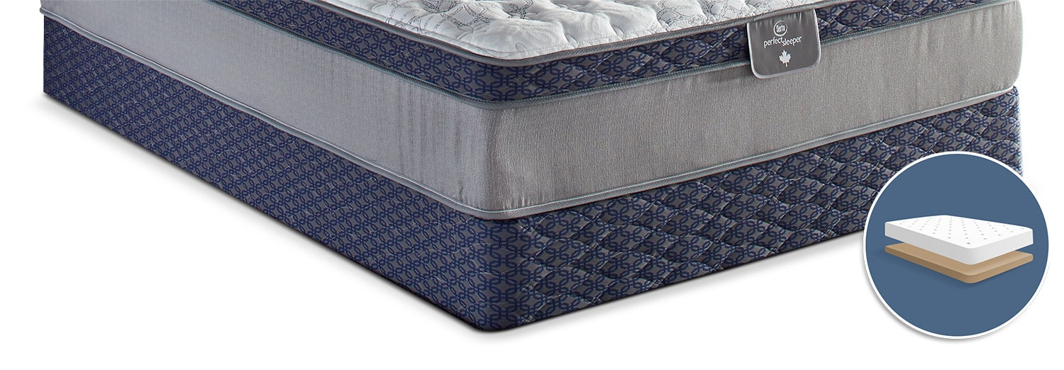 Mattresses and Bedding - Sertapedic® 85th Anniversary Low-Profile Queen Boxspring