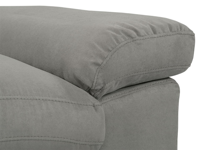 Peyton Microsuede Chair Grey The Brick