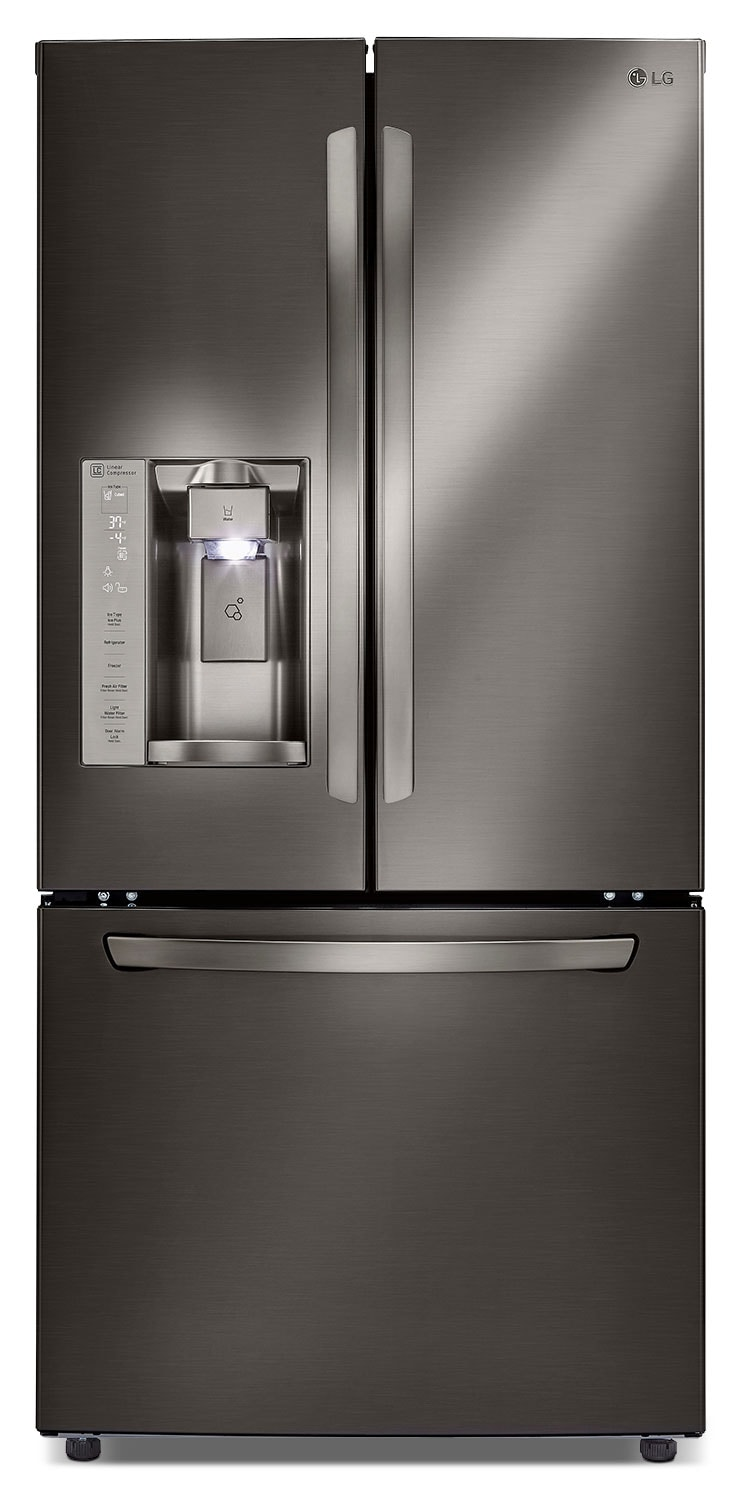LG 24.2 Cu. Ft. French-Door Refrigerator – Black Stainless Steel LFXS24623D