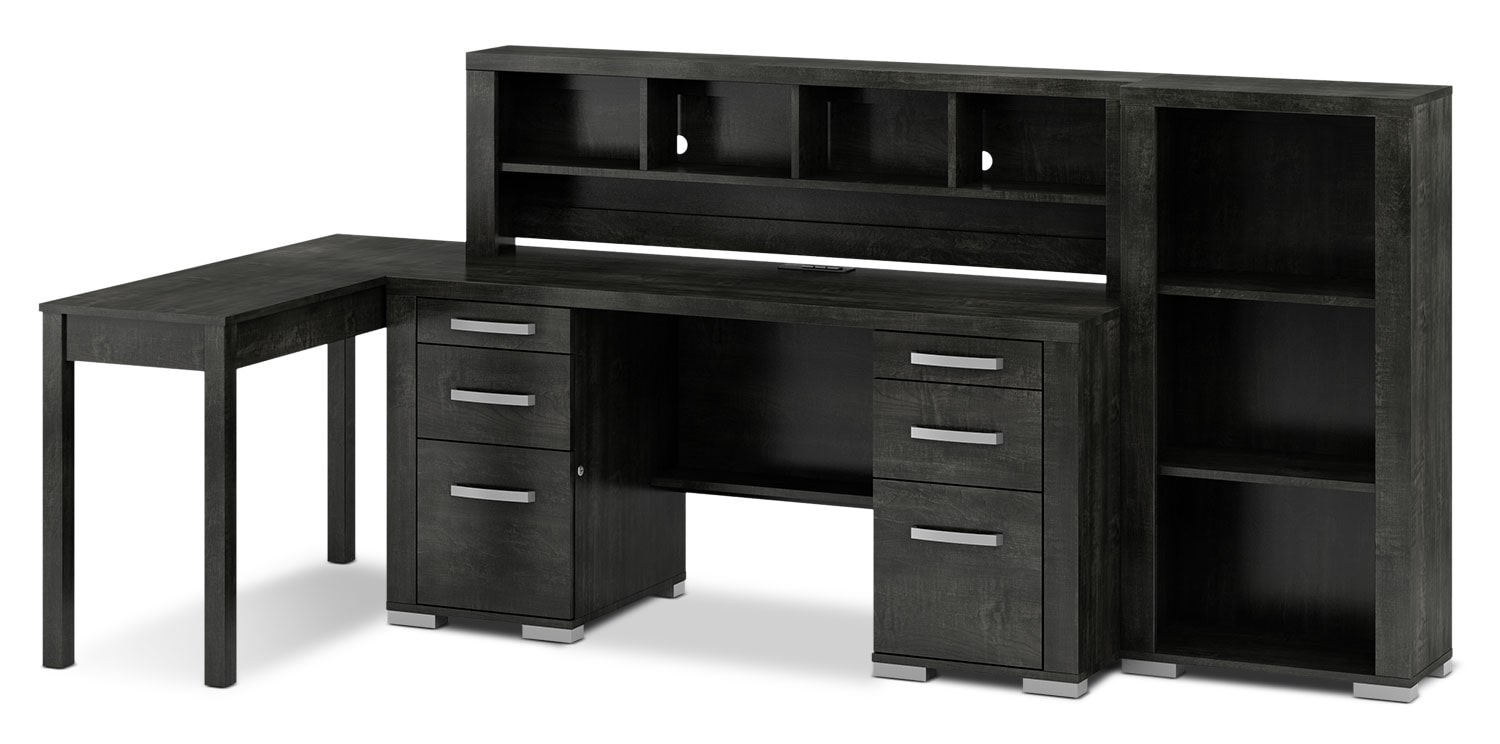 Home Office Furniture - Lexington 4-Piece Desk Package