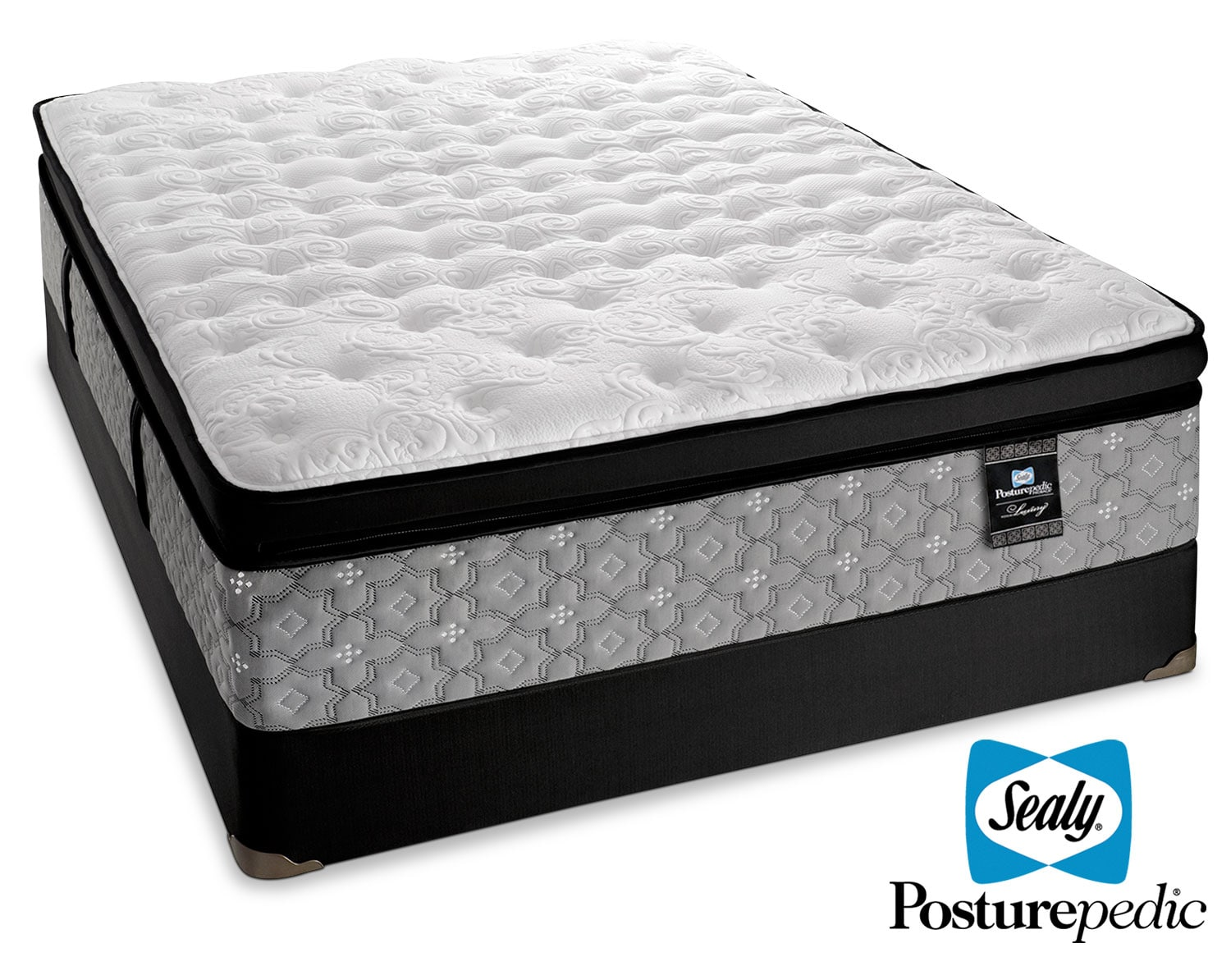 Mattresses and Bedding - Sealy Spartacus Plush Queen Mattress/Boxspring Set