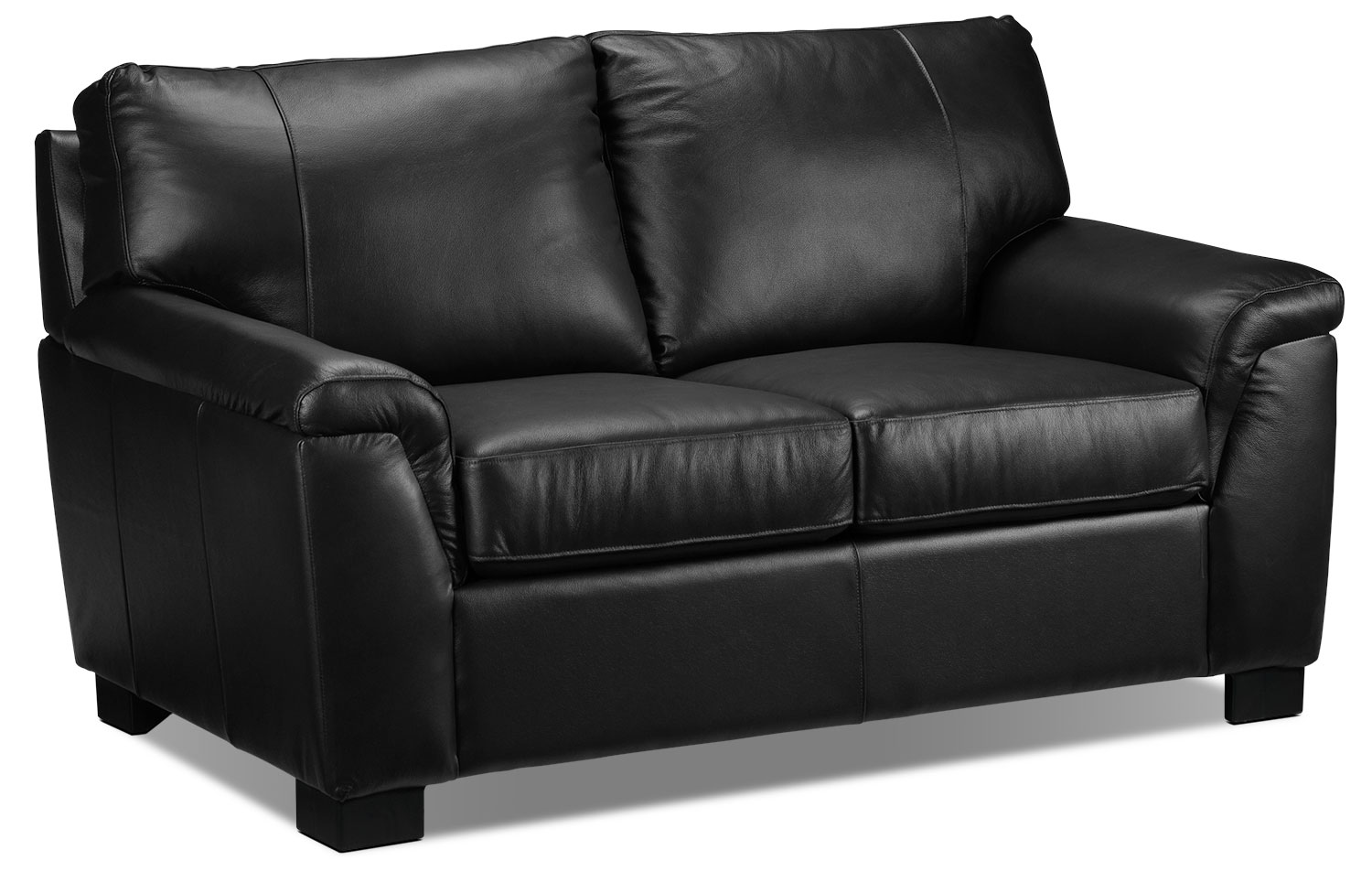 Living Room Furniture - Reynolds Loveseat - Black