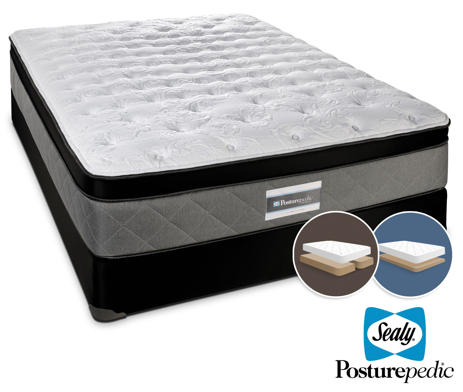 Sealy Scripture Firm King Mattress and Low-Profile Split Boxspring Set