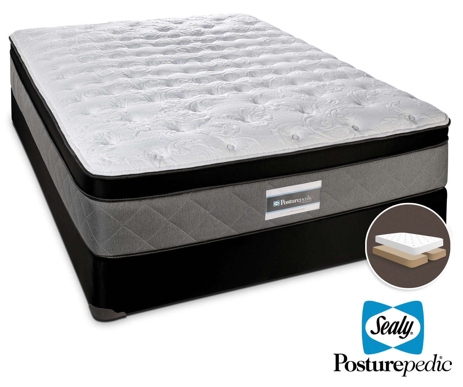 Sealy Scripture Plush King Mattress/Split Boxspring Set