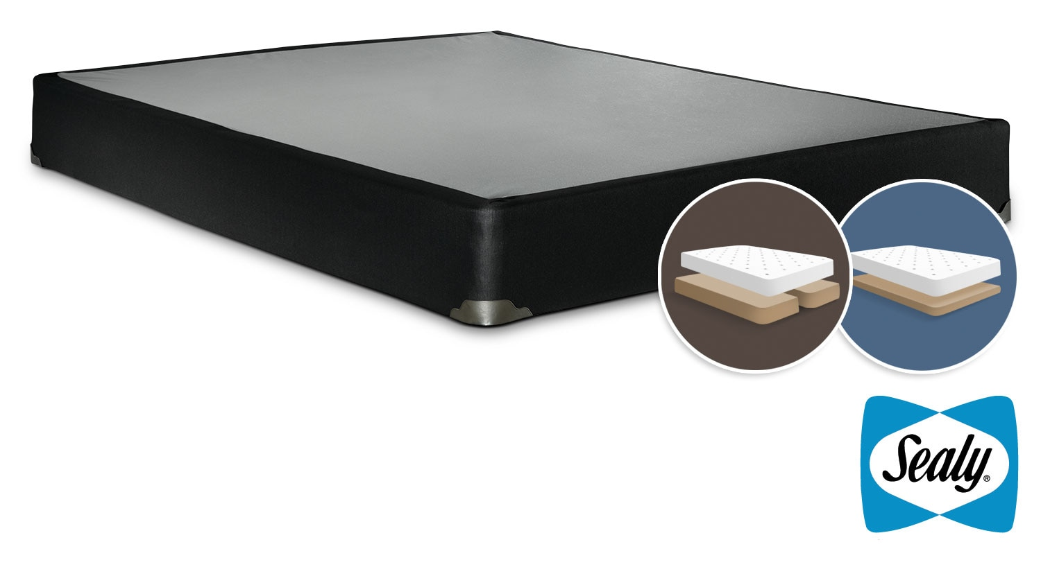 Sealy Luxury Noir King Low Profile Split Boxspring
