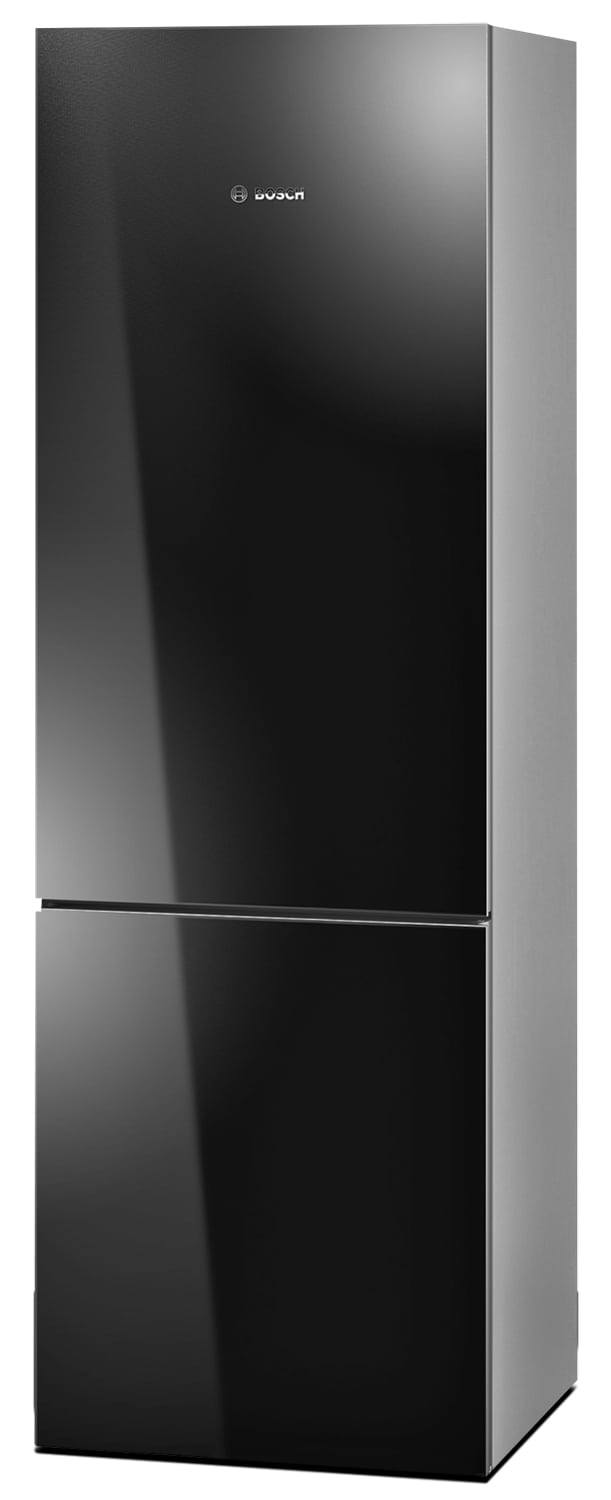 Refrigerators and Freezers - Bosch Black Glass Bottom-Freezer Refrigerator (10.0 Cu. Ft.) - B10CB80NVB